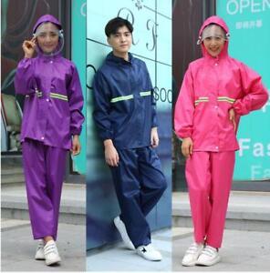 Adults-Womens-Mens-Waterproof-Oxford-Rain-Suit-Jacket-amp-Trousers-Set-Rain-Coat