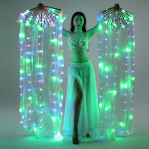 Show-Accs-LED-Fan-Veils-Silk-Fire-Fan-Praise-Worship-Glow-Light-Belly-Dance-Club