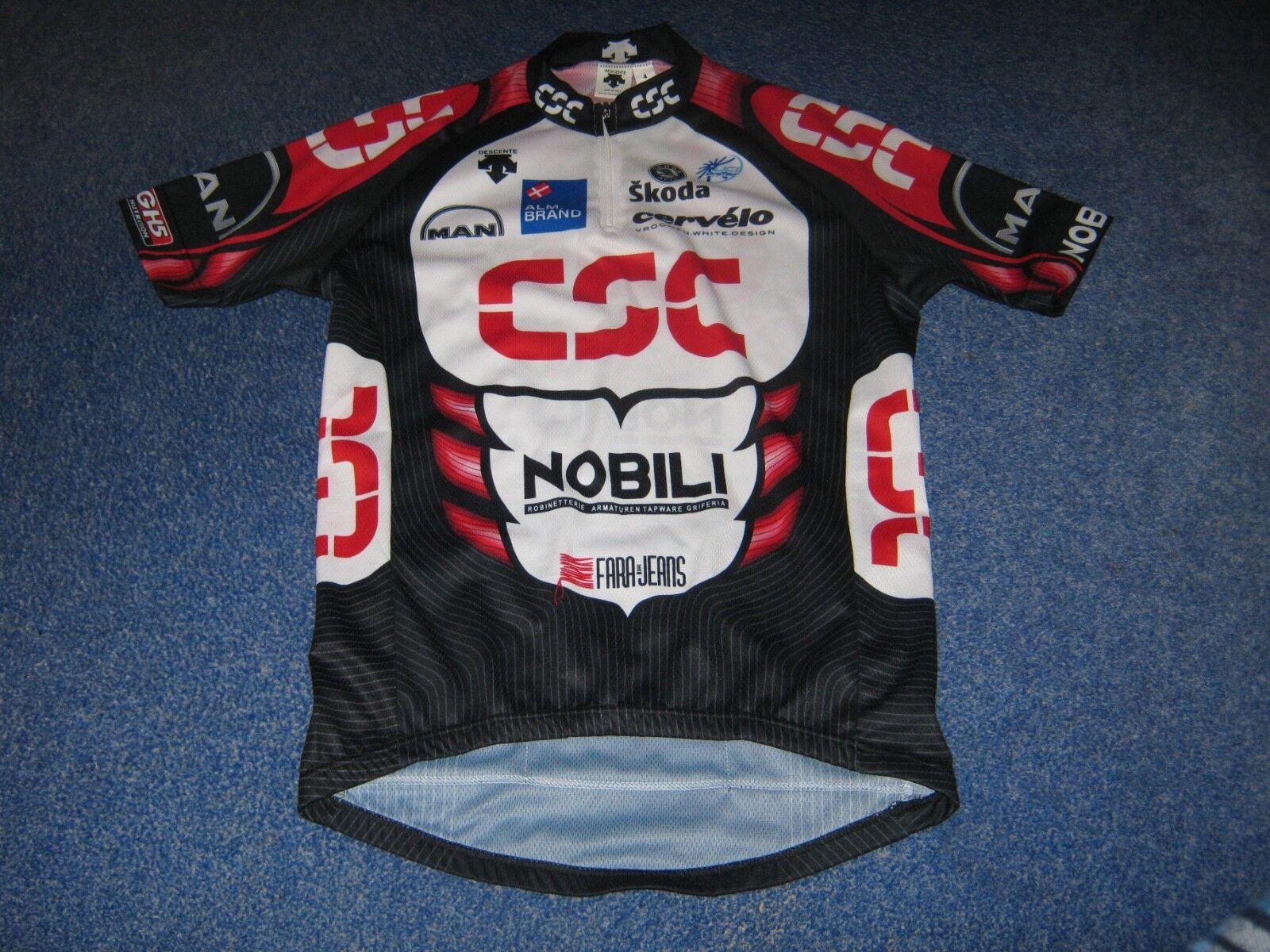 CSC Nobili Cervelo Riis Cycling Descente Italian cycling jersey [4] BNWOT
