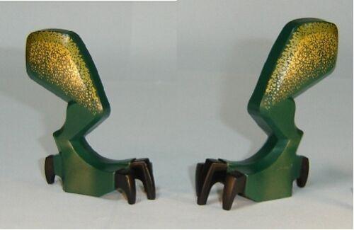 Left /& Right Dragon Leg w// Black Claws /& Metallic Gold Hip LEGO Fantasy Era