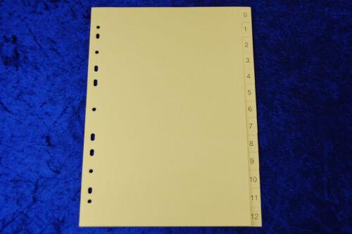 2 St Ordnerregister Register A4 1-12 12tlg blanko Manila Karton Ordner-Register