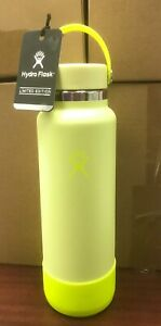 Hydro-Flask-40-oz-Neon-Lemonade-Water-Bottle-Rare-Limited-Edition-w-Bag-amp-Boot