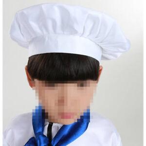 5419a8072dc34 La foto se está cargando Ninos-Blanco-Sombrero-De-Chef-Cocinar-Hornear- Elastico-