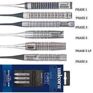 UNICORN-SOFT-TIP-PURIST-DARTS-PHASES-1-6-Evolution-Phil-Taylor-Tungsten-Barrels