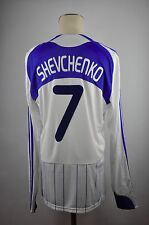 2009-10 Dynamo Kiev #7 Shevchenko Trikot Home Gr. XL Adidas langarm Privatbank