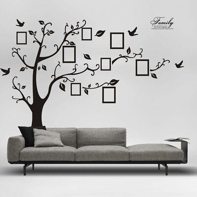 3D DIY Removable Family Photo Tree PVC Wall Sticker Mural Decals Home Decoration