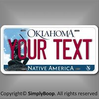 Oklahoma Any Your Text Custom Personalized Aluminum License Plate Tag Cool