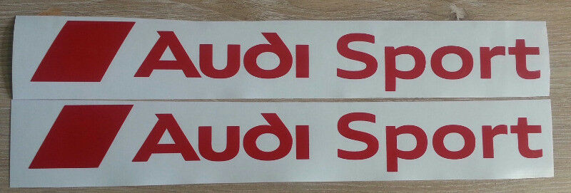 Pair of Audi Sport side decals graphics / vinyl cut stickers