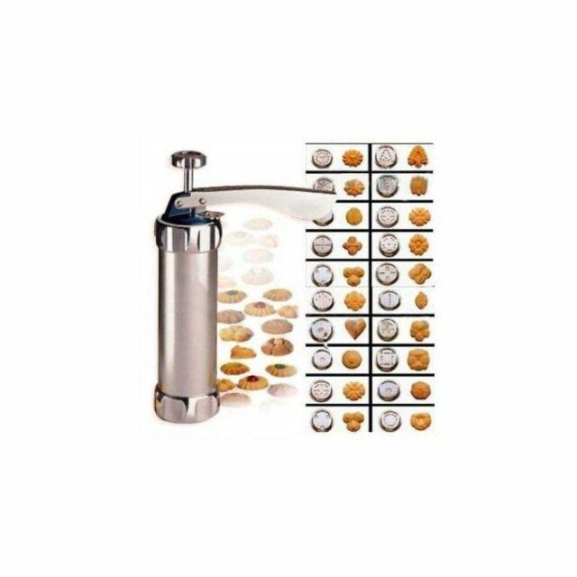 BISCUIT COOKIE MAKER PRESS PUMP MACHINE WITH 20 COOKIE DISCS NEW 18398C