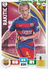 043 IVAN RAKITIC CROATIA FC.BARCELONA CARD ADRENALYN LIGA 2016 PANINI