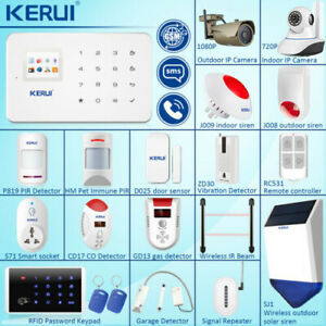 Wireless Alarm Sensors Accessories G90B WiFi GSM Home Burglar Alarm System lot