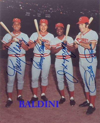 MORGAN AND PEREZ SIGNED 10X8 PHOTO ROSE BENCH BIG RED MACHINE