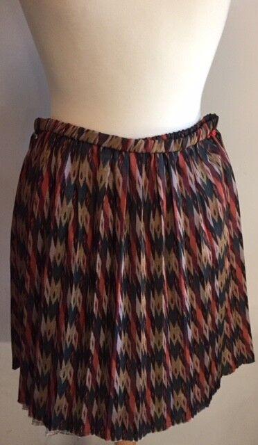 Isabel Marant Étoile SZ L HANOi Ikat Print Pleated Skirt