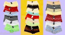 R1 Wholesale Lot 12 Lace Boy Shorts Lingerie Sheer Panties Underwear S M L XL