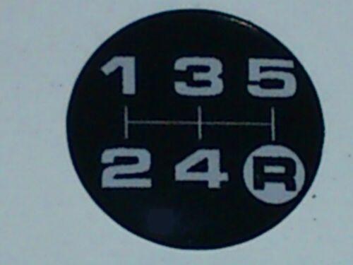 15mm Durchmesser MG Schalthebel Muster Aufkleber für Momo Schalthebel