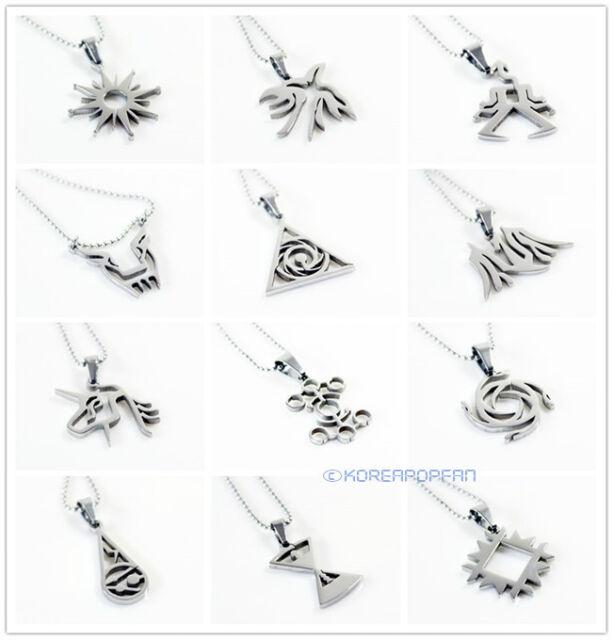 EXO EXO-M EXO-K MAMA XOXO FIRST YEAR Titanium steel necklace KPOP NEW