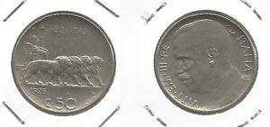 REGNO-D-039-ITALIA-Vitt-Em-III-50-Cent-034-Leoni-034-1925-bordo-rigato-12
