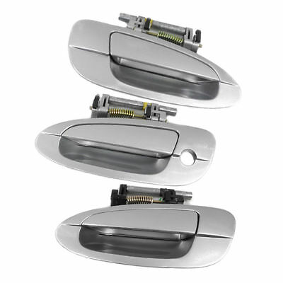 4 PCS Outside Door Handle KY1 Sheer Silver for 2002-2006 NISSAN ALTIMA DS268