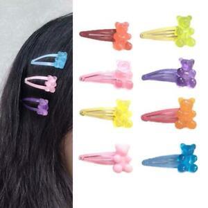 Cute Cartoon Bear Hairpins Women Girls Children Barrette Party Gift Hair Clips.