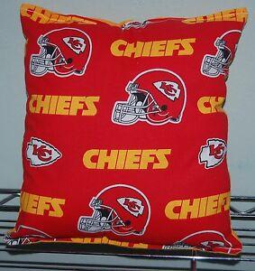 Kansas-City-Chiefs-Pillow-NFL-KC-Pillow-HANDMADE-In-USA-Toddler-Travel-NEW