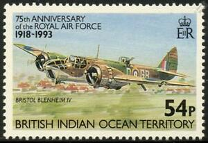 RAF BRISTOL BLENHEIM Mk.IV WWII Light Bomber Aircraft Stamp (1993 BIOT)