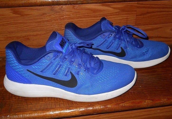 Zapatos NIKE corrientes de los hombres NIKE Zapatos Lunarlon zapatillas ~ Bright Azul ~ 11,5 ~ excelente estado 96fd45