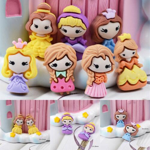 DIY Cabochons Princess Resin 10 pcs 2-3cm Craft Decor Mixed Flatbacks Girls