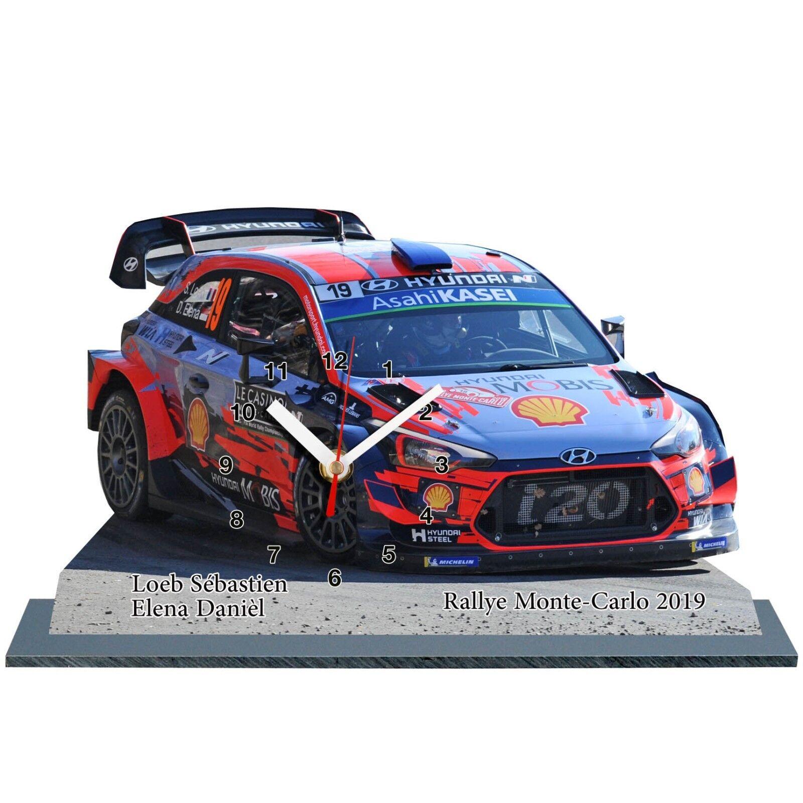 Loeb, Rally Monte Carlo 2019, Hyundai I20, Auto in goldlogio Miniatura 01