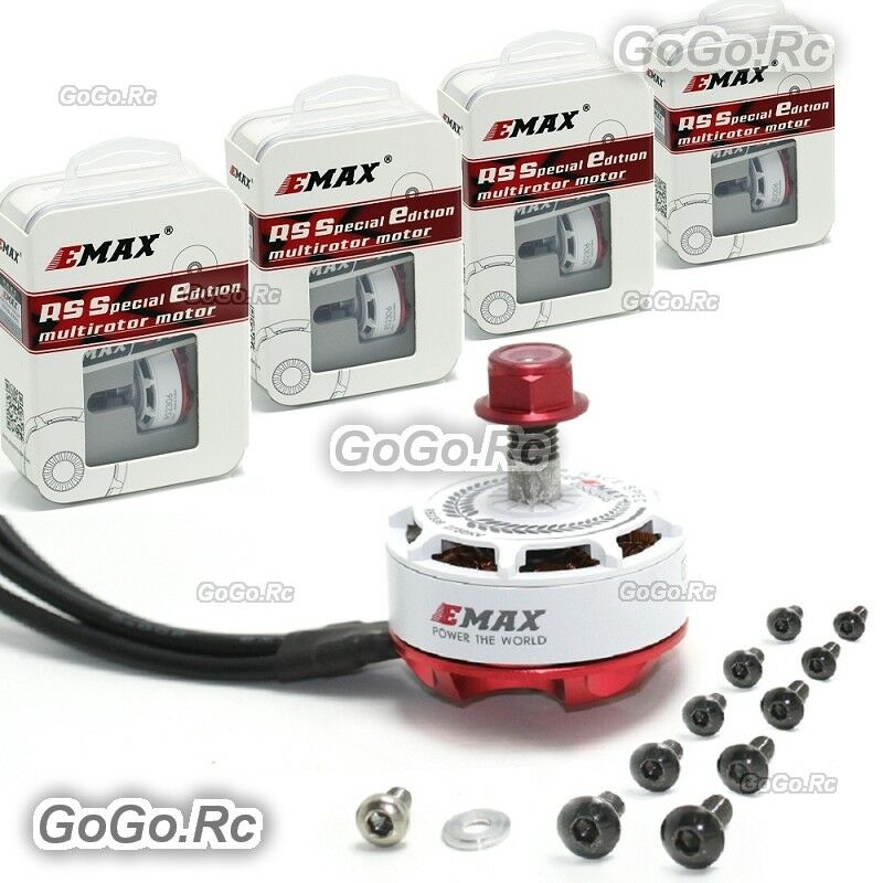 4 x EMAX RS2306 2750KV bianca Editions RaceSpec Brushless Motor for Racing Drone