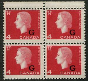 CANADA-B-O-B-O48-MINT-BLOCK-OF-4-NH-OVERPRINT-VARIETY