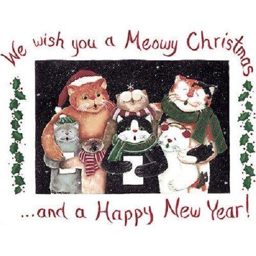 Meowy Christmas   Cat  Sweatshirt   Sizes//Colors