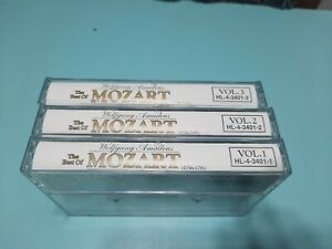 Lot Of Mozart 3 Volume Set Cassette Tapes Used