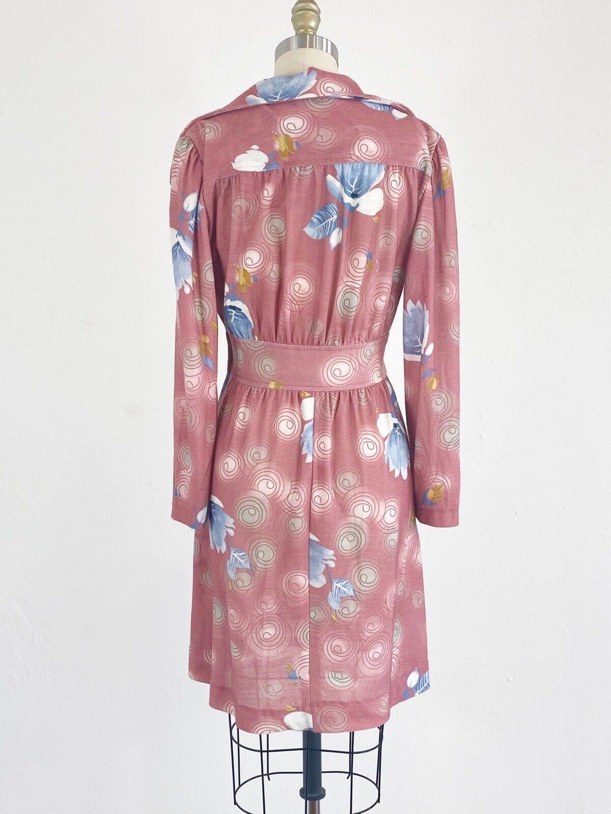 1970s Floral Dress - 1970s Mini Dress - Floral Mi… - image 5