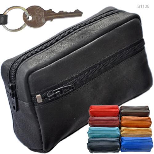 3 große Schlüsseletuis mit Kleingeldfach Schlüsseltasche Schlüsselanhänger S1108