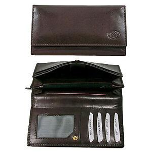 edle-Grand-Plaza-Brieftasche-echtes-Leder-fuer-Geld-Papiere-braun
