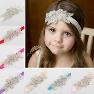 Baby-Girl-Toddler-Princess-Rhinestone-Flower-Headband-Hairband-Hair-Accessories