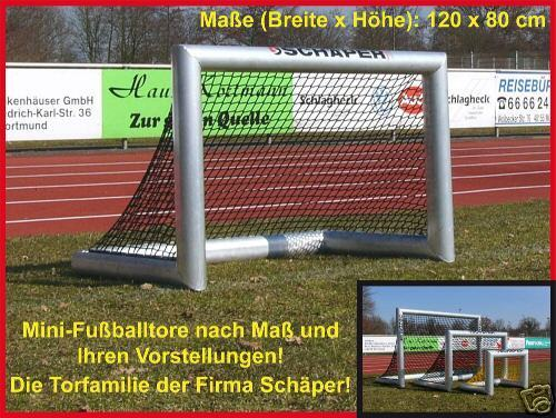 Mini Fußballtor, 120 x 80 cm aus Aulminium