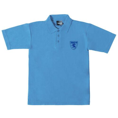 Zeco garçon enfants enfant uniforme scolaire Schoolwear collor plain couleurs polo shirt