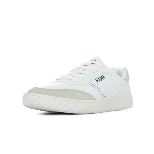 Chaussures Baskets Kappa homme Musorin taille Blanc Blanche Suède Lacets