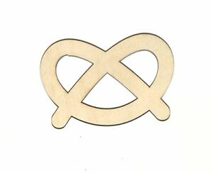 Pretzel Food Decor Unfinished Wood Shape Cutout Variety Sizes USA Made