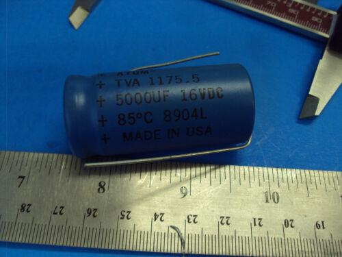 7B 1-PCS TVA-1175.5 Capacitor Sprague Atom 5000UF 16V Tube Amp Made in USA