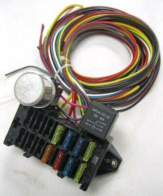 8 circuit basic wire harness fuse box street hot rat rod wiring car truck  12v | ebay  ebay