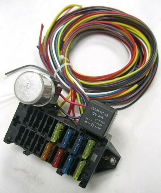Fine Universal 8 Circuit Wire Wiring Harness Street Rat Hot Rod Basic Wiring Digital Resources Sapredefiancerspsorg