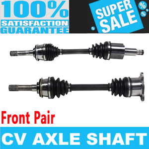 CV Joint Axle Assembly Front Pair Set of 2 Premium CV Axles for Chevy Tracker ZR2 Base Sport 4WD 2.0L 2.5L Replacement No NCV68031 x 1;NCV68032 x 1