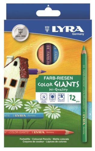 NEU 12 Lyra Farb Riesen dicke bunte Farbstifte Buntstifte Malstifte Jumbo