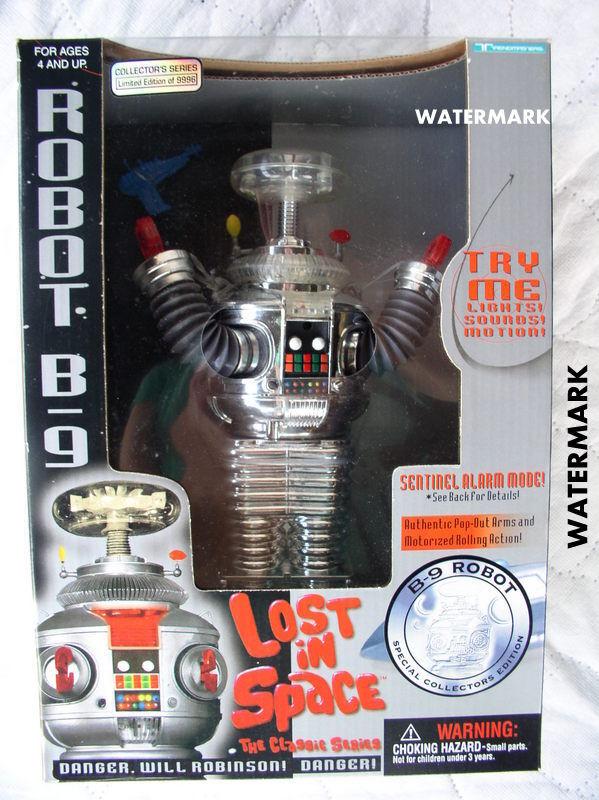 Lost in Space 1997 Robot B9 Ltd Ed Trendmasters CHROME blu PISTOL Sealed Box