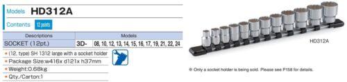 """Tone 3//8/"""" Socket dodécagonal 9.5 mm Square Drive Outil à main 8-24 mm Japon"""