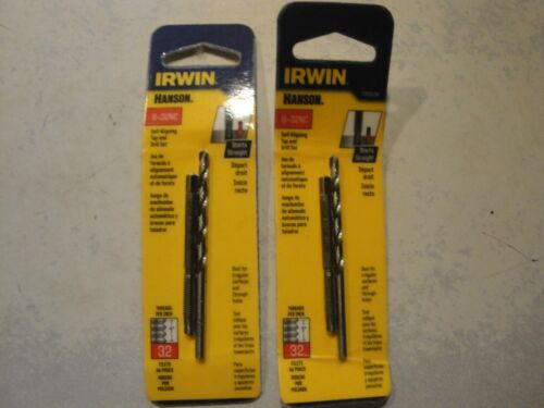 IRWIN Hanson 8-32NC self-Aligning tap and drill set 1765534