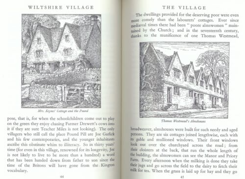1 of 1 - Wiltshire Village by Heather Tanner Glorious Illus by Robin Tanner - See Photos