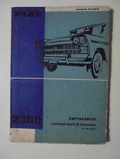 fiat 2300 catalogo parti ricambio carrozzeria